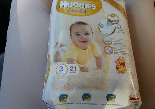 Амелия тестирует Huggies Elite Soft 3 размерчика
