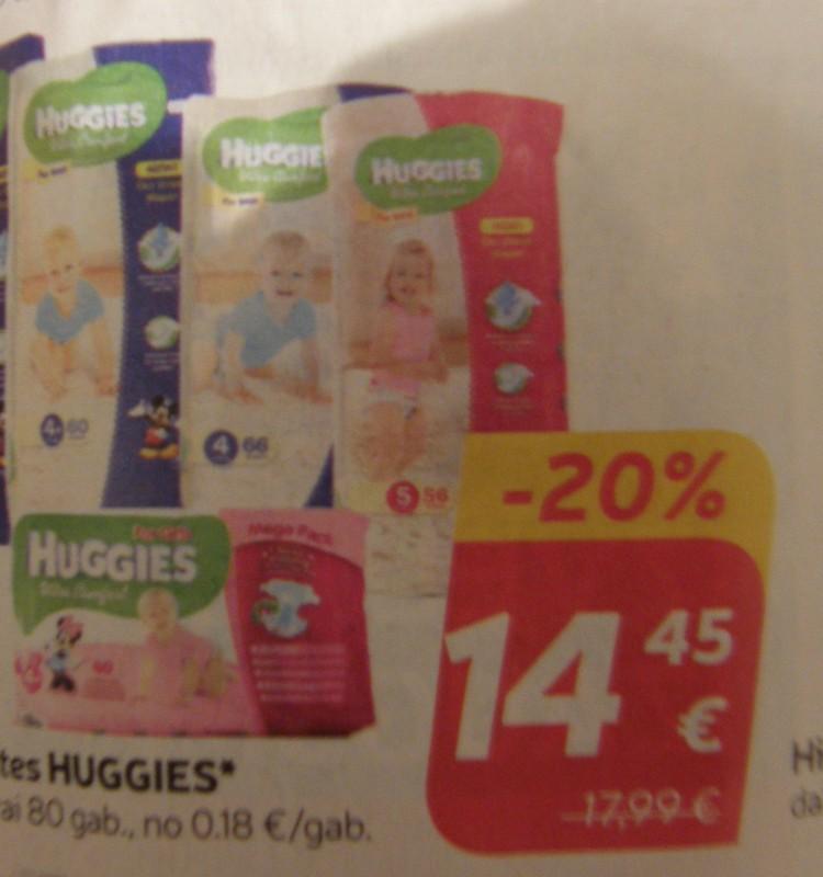 В магазинах РИМИ скидка 20% на подгузники Huggies Ultra Comfort