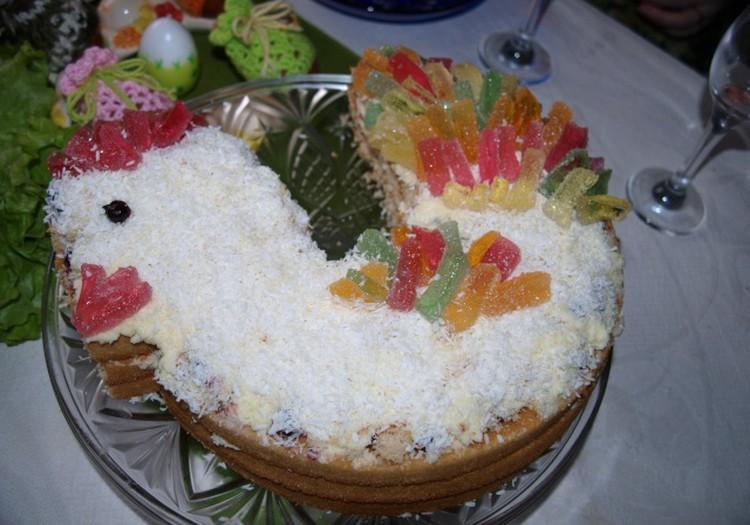 """Пасхально-именинный торт """"Петушок"""""""