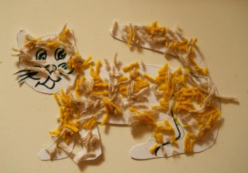 Совет №22: Поделка из ниток и варианты игрового занятия на тему- котик
