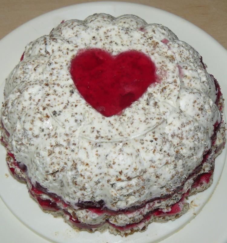 ФФ: Посвящается Анжелике (Lika4ke): Желейный торт из ржаного хлеба и клюквенной прослойки!