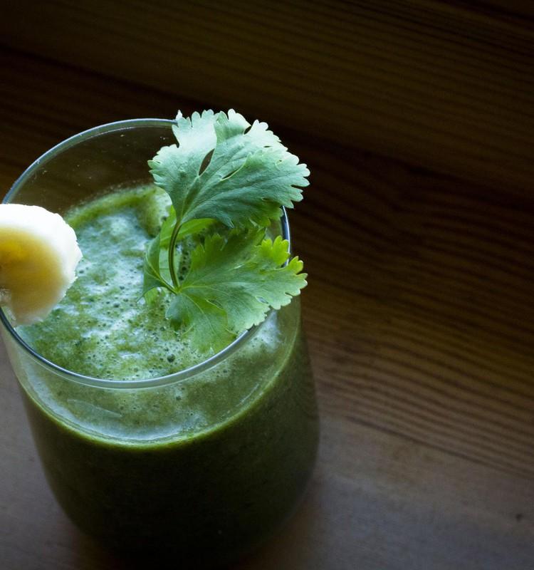 Зелёные коктейли для здоровья