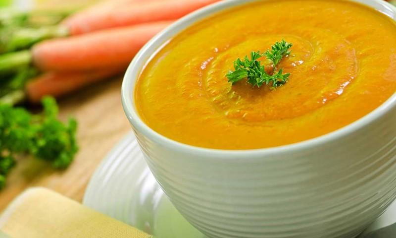 Рецепты для кормящих мам - морковный крем-суп и курочка в фольге
