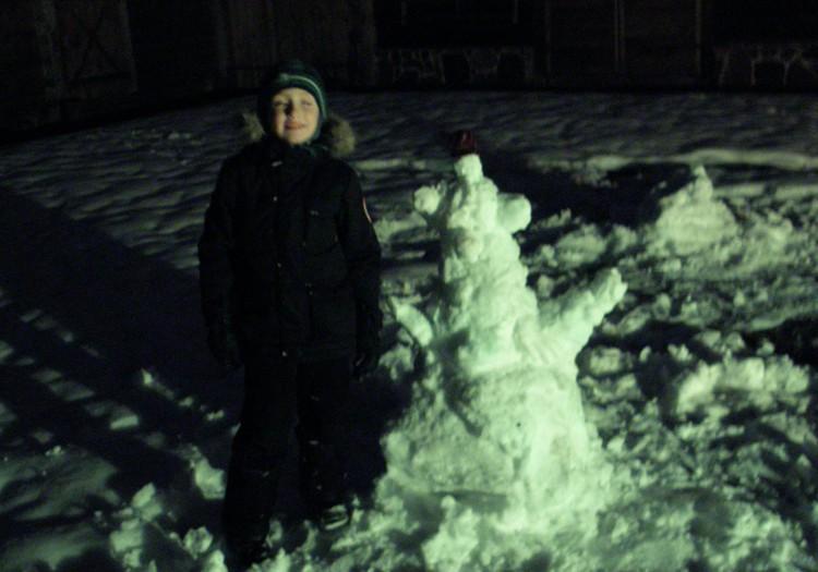 Снеговик в Этнографическом музее