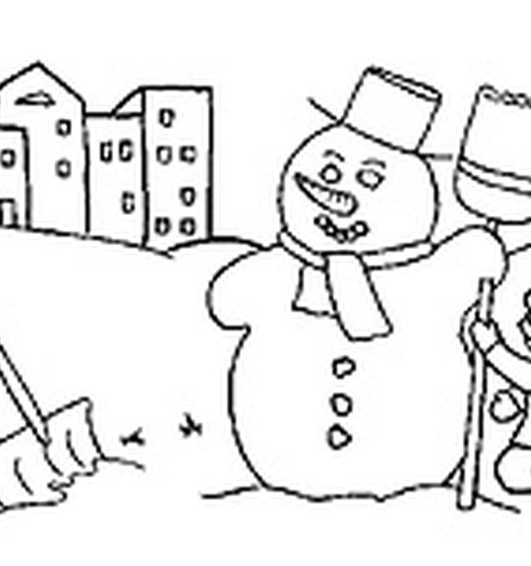 Распечатай снеговика и раскрась!