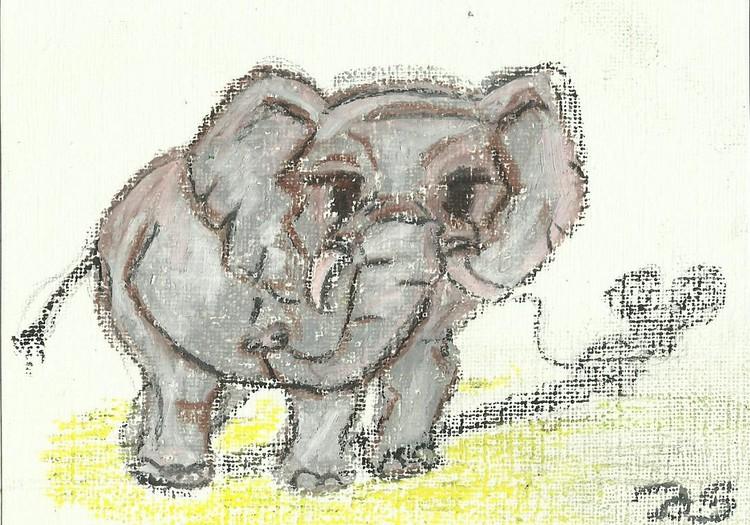 Слонёнок и тень