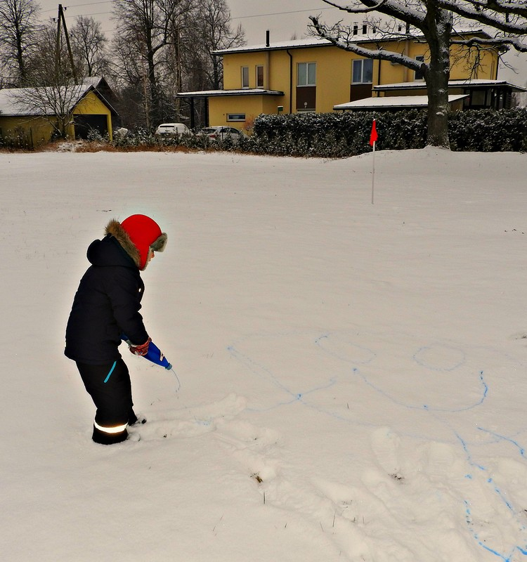 Рисуем на снегу