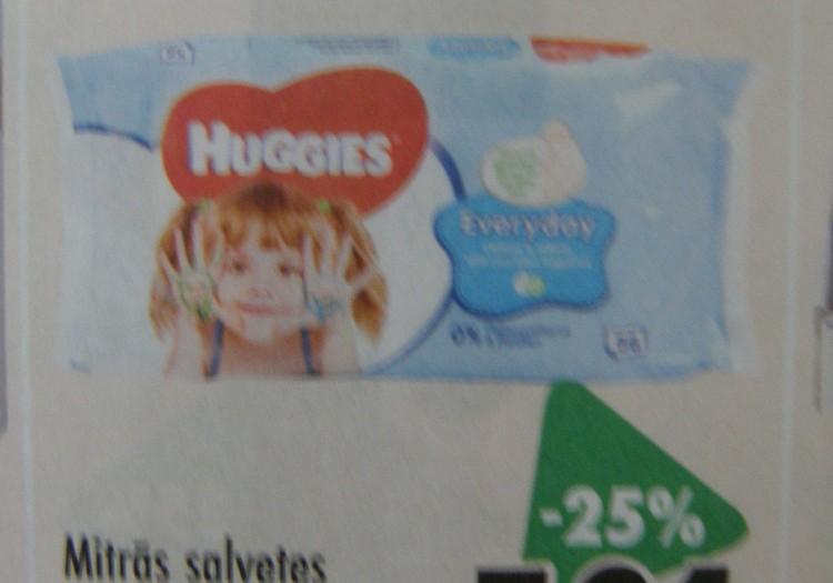 В магазинах Призма скидка 25% на влажные салфетки Huggies