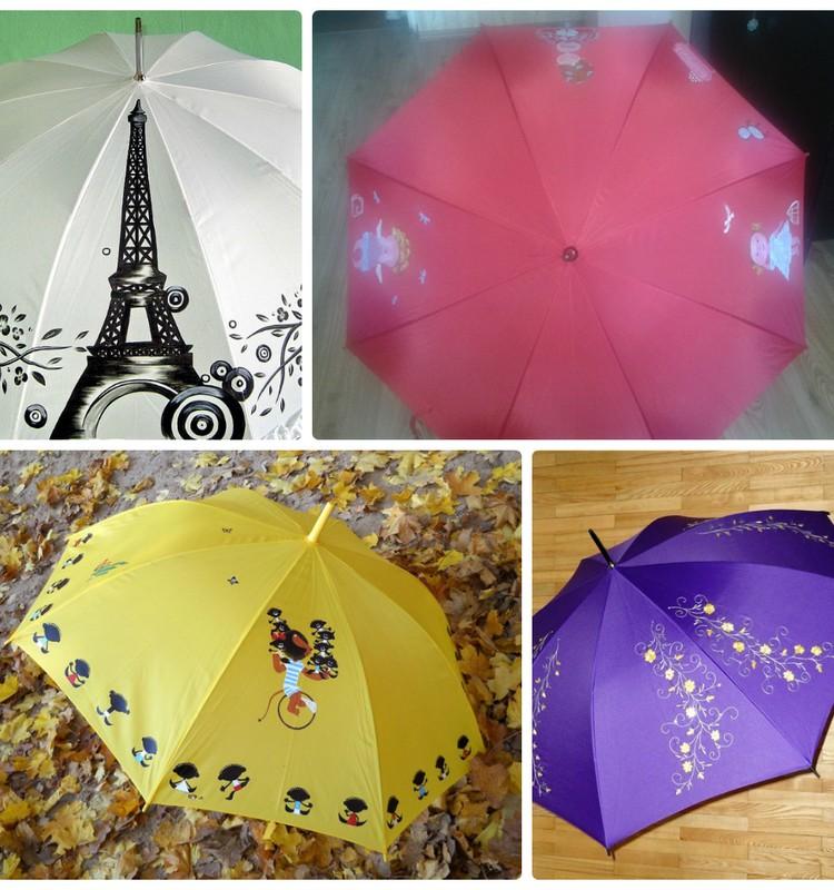 Зонты, ручная роспись.
