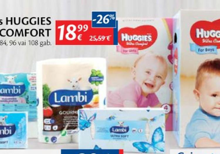 В гипермаркетах Maxima скидки на Huggies Ultra Comfort