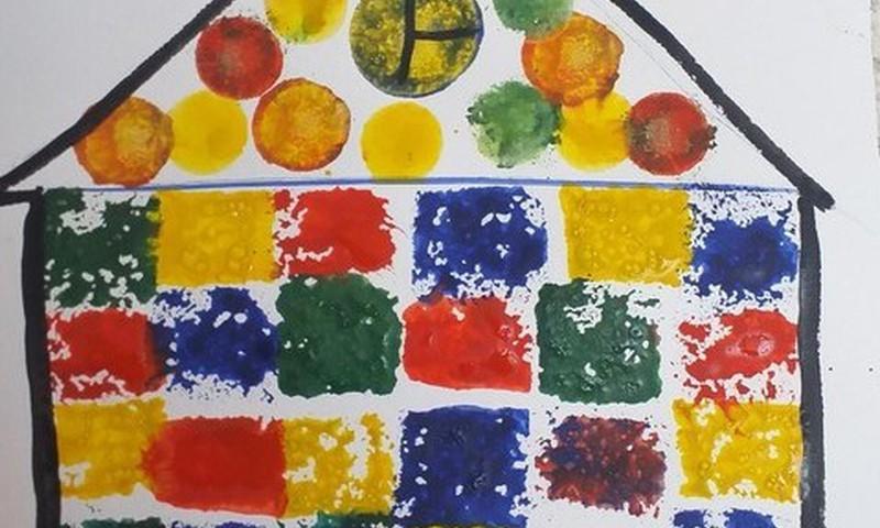 Рисуем губкой для мытья посуды