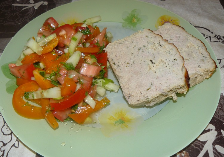 Ужин: Мясное суфле