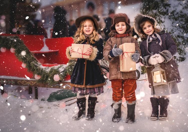 Детки с открытки