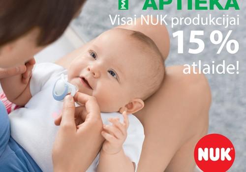 В сети EUROaptiekа на всю продукцию NUK - скидка 15%!