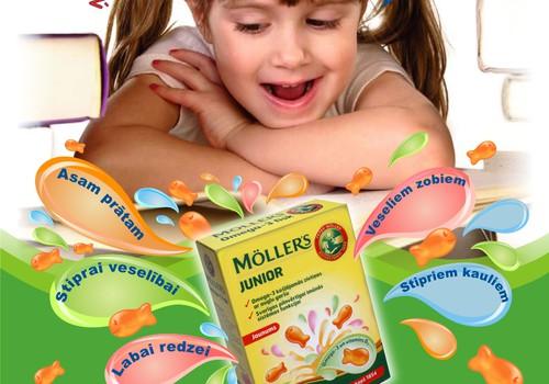 Протестируйте желейные рыбки Mollers для детей с трёх лет!