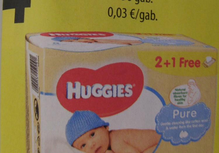 В магазинах ELVI хорошие цены на влажные салфетки Huggies