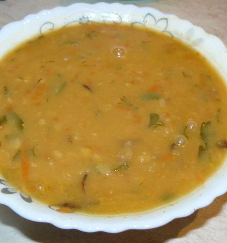 Суп с чечевицей и горохом