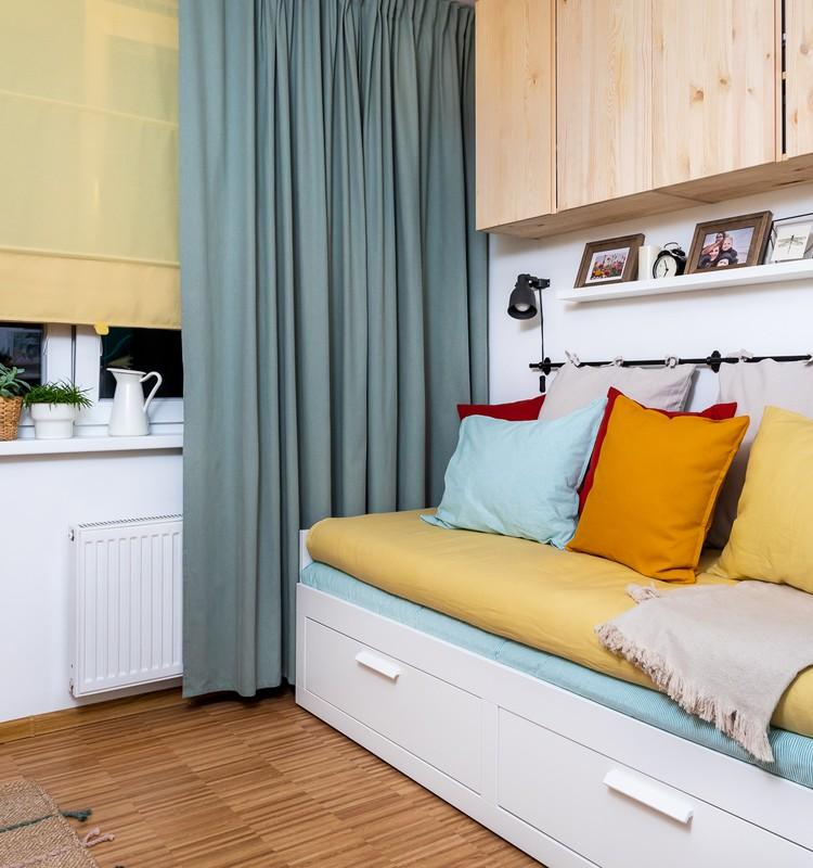 Небольшое пространство – большие перемены: перевоплощениежилой10 м2 комнатыдля 3 человек