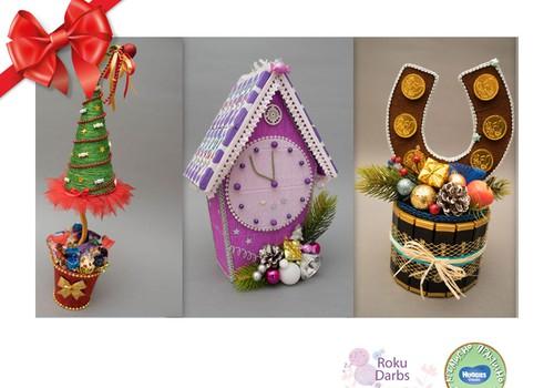 Праздничный каталог подарков Huggies®: Конфетные букеты ручной работы