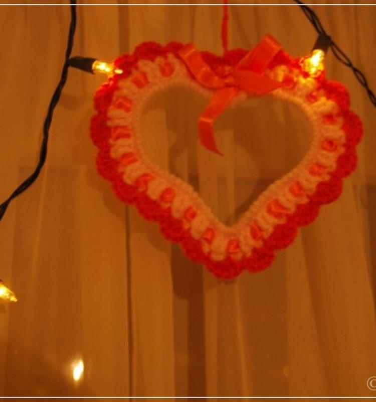 Вяжем подвесную валентинку