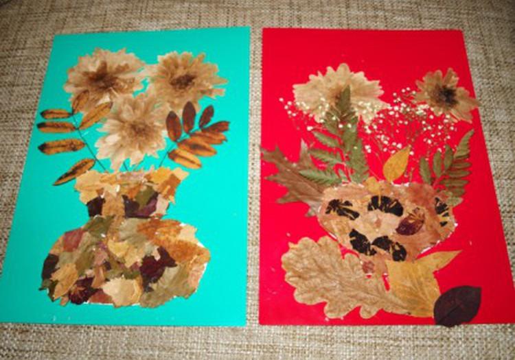 """Осенние картины """"Цветы в вазонах"""""""