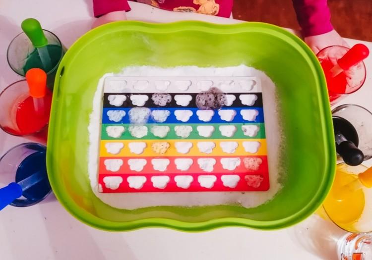 Изучаем цвета с помощью соды