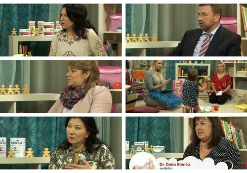 ВИДЕОзапись ONLINE-TV Māmiņu klubs: О посещении проктолога, вакцинации, первом прикорме, необходимости железа, новых подгузниках, о насморке