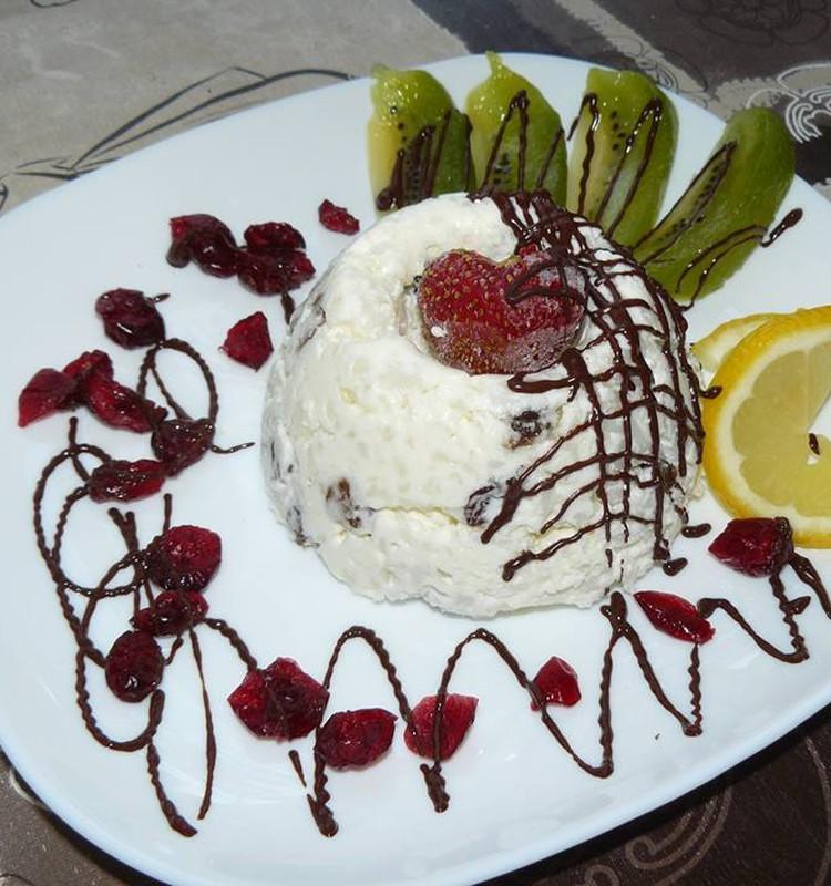 Рисовый десерт на завтрак