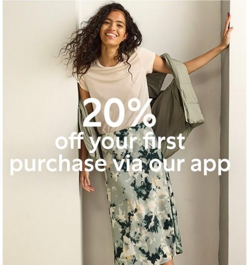 Скидка 20% на первую покупку в приложении Lindex
