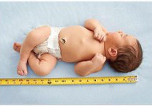 Таблица роста и веса ребёнка до двух лет