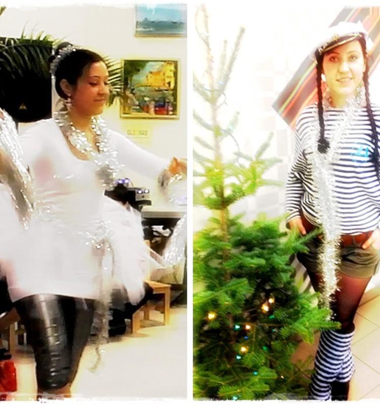 Снежинка и Морячка под Новый год
