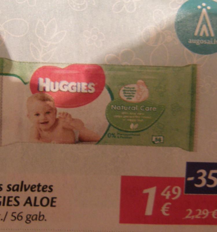 Скидки 35% в магазинах Максима на влажные салфетки Huggies