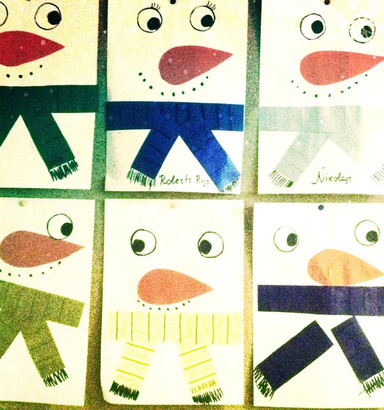 Снеговик - задание для малышат
