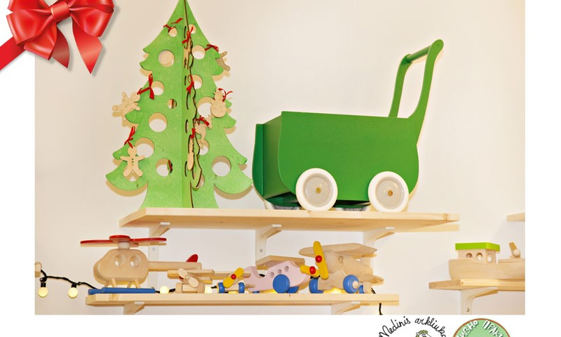 Праздничный каталог подарков Huggies®: деревянные игрушки для детей