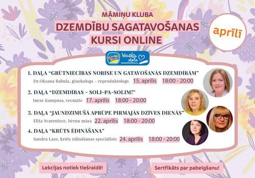 Курсы подготовки к родам онлайн - и на латышском языке: прослушайте 4 лекции и получите подарок!