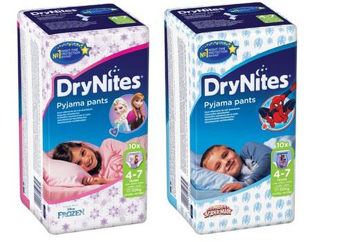 C 1 июля ночные трусики DryNites входят в список компенсируемых вспомогательных средств