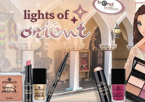 """Серия косметического бренда essence """"lights of orient"""""""
