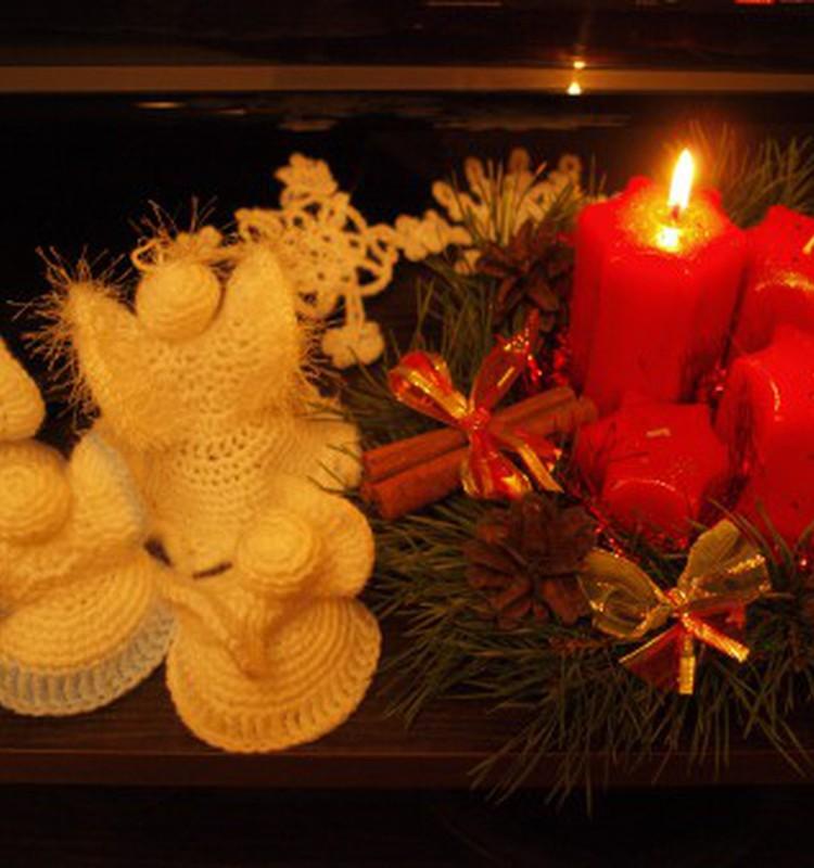 Рождественские ангелочки крючком