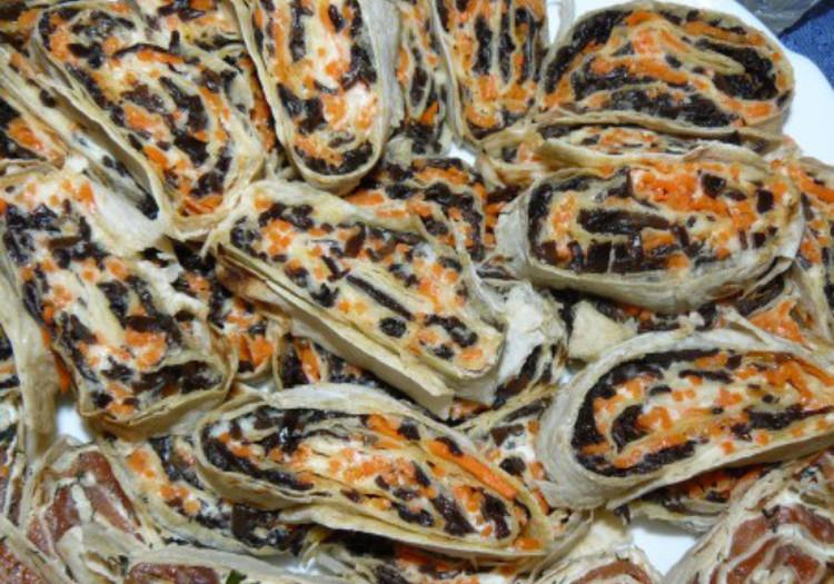 Лаваш с начинкой из шиитаке