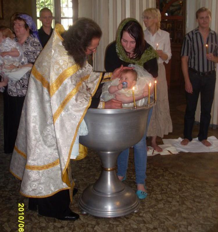 Крещение любимой доченьки