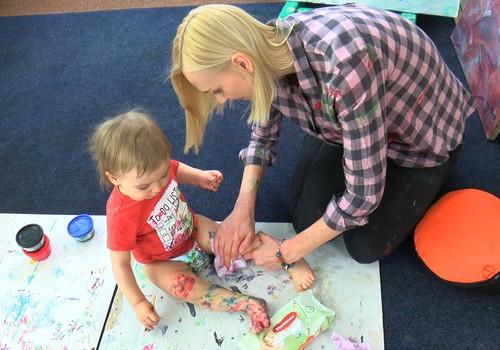 Малыш и художество – не будет ли слишком грязно? ВИДЕОистория