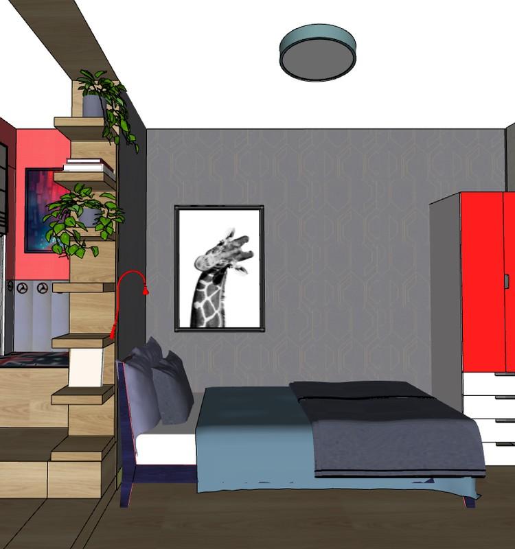 Решение интерьера для комнаты подростка. 602 серия