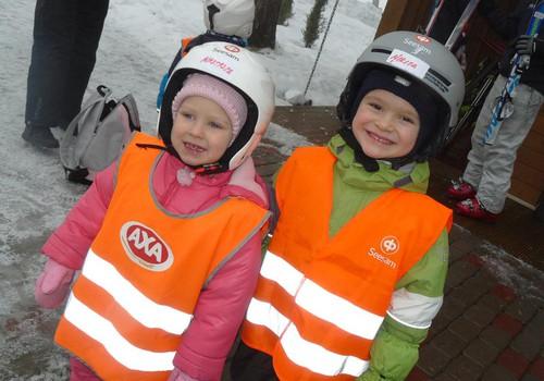 Как юные лыжники учились кататься на Reina trase
