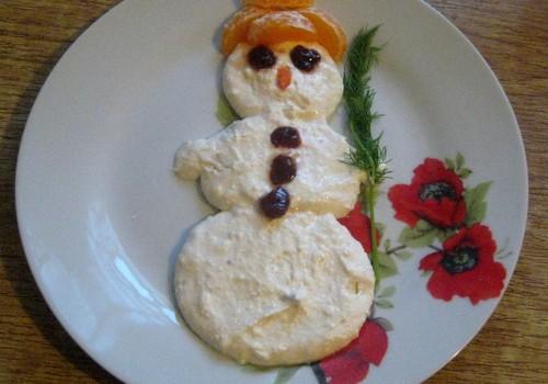 Творожный снеговик