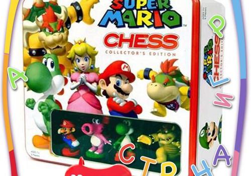 """Необычная игрушка: Шахматы """"Super Mario"""""""