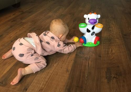 Тестирование игрушки Bright Starts - музыкальная корова