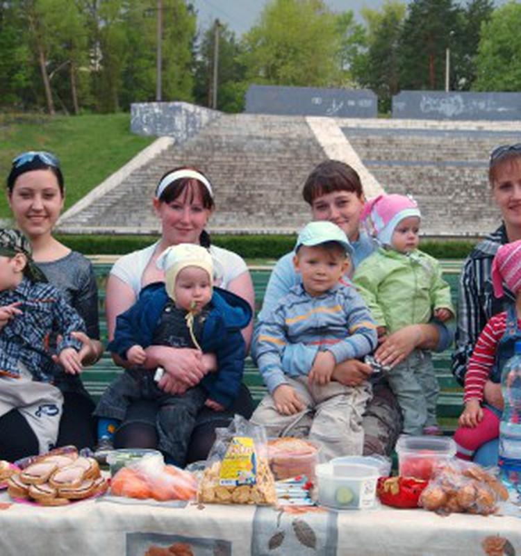 А вот и наш первый пикник!