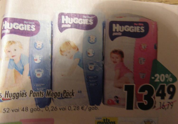 В магазинах  ПРИЗМА скидка 20% на подгузники Huggies pants