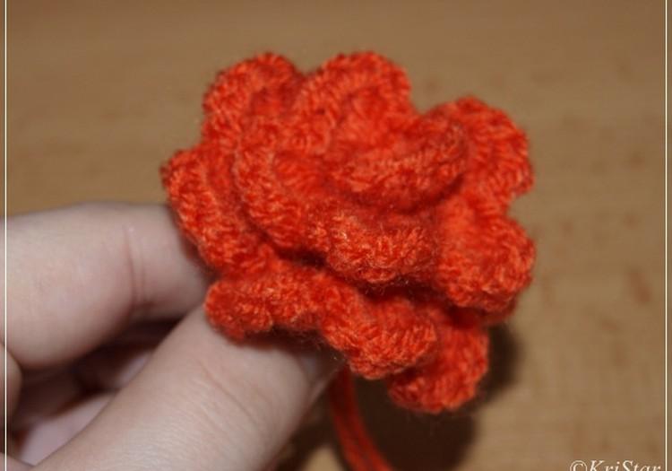 Вяжем самые простые цветочки. МК