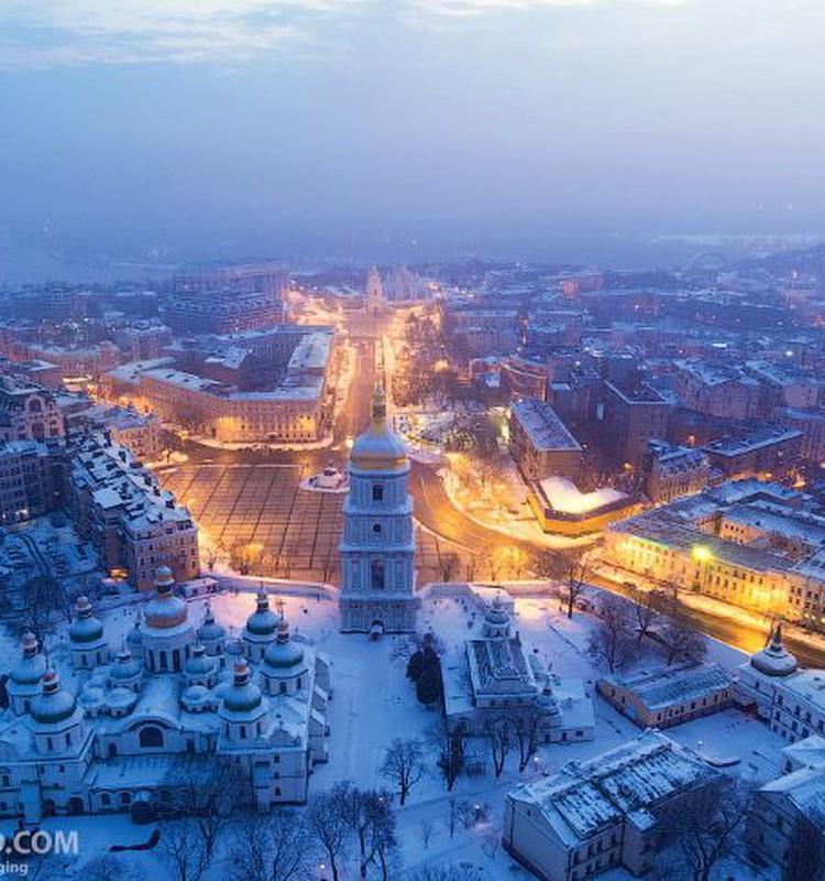 Киев: четыре времени года. Зима